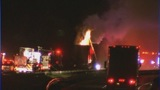 Scene of I-77 tractor-trailer fire - (2/11)