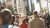 Protesters march through uptown Charlotte - (10/25)