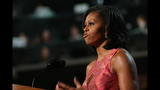First lady addresses crowd at DNC - (7/20)