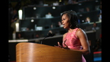 First lady addresses crowd at DNC - (6/20)