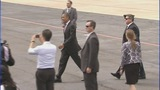 President Barack Obama arrives in Charlotte - (4/11)