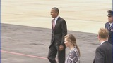 President Barack Obama arrives in Charlotte - (11/11)