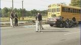 IMAGES: Car slams into CMS school bus - (9/12)