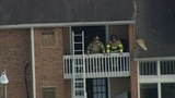 Firefighters on scene of south Charlotte condo fire - (8/8)
