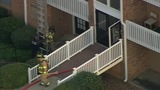 Firefighters on scene of south Charlotte condo fire - (3/8)