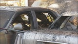 People evacuated after car fire started near building - (1/6)