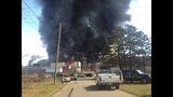 IMAGES: Scene of Gastonia warehouse fire Saturday - (5/15)
