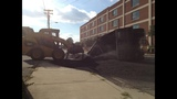 IMAGES: Truck overturns on Moorehead St.… - (2/5)