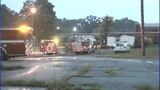 IMAGES: Trailer behind Gastonia school catches fire - (12/13)