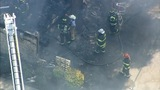 IMAGES: Chopper 9 shows major Rowan Co. house fire - (14/20)