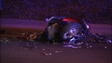IMAGES: Scene of motorcycle vs. tractor-trailer - (6/12)