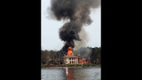 IMAGES: House on Lake Norman goes up in flames - (5/25)
