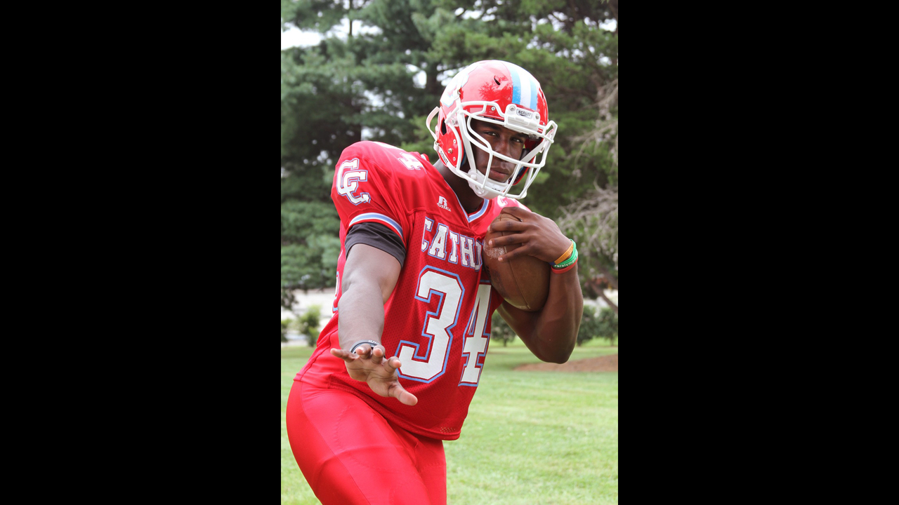 outlet store 88189 d0d3c Charlotte Catholic's Elijah Hood named AP player of the year ...