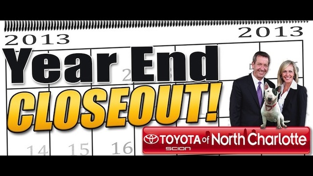 toyota of north charlotte extends the year end closeout wsoc tv. Black Bedroom Furniture Sets. Home Design Ideas