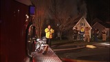 IMAGES: House fire erupts in east Charlotte - (2/6)