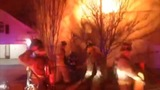 IMAGES: House fire erupts in east Charlotte - (5/6)