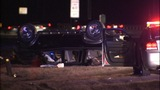 Woman killed when car flips on I-77 - (2/10)