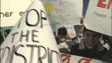 IMAGES: Families protest school redistricting - (3/10)