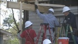 IMAGES: Firefighters help rebuild home that… - (2/15)