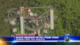 IMAGES: Rescue of worker on cellphone tower - (22/25)