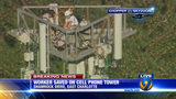 IMAGES: Rescue of worker on cellphone tower - (23/25)