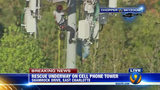 IMAGES: Rescue of worker on cellphone tower - (8/25)