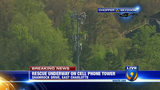 IMAGES: Rescue of worker on cellphone tower - (12/25)