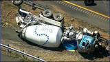 IMAGES: Overturned concrete truck on I-77 - (8/14)