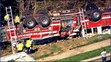 IMAGES: Fire engine overturns in south Charlotte - (17/18)