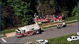 IMAGES: Fire engine overturns in south Charlotte - (10/18)