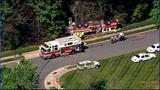 IMAGES: Fire engine overturns in south Charlotte - (3/18)