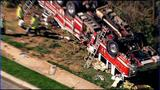 IMAGES: Fire engine overturns in south Charlotte - (4/18)
