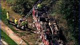 IMAGES: Fire engine overturns in south Charlotte - (12/18)