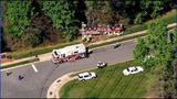 IMAGES: Fire engine overturns in south Charlotte - (9/18)