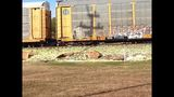 IMAGES: Train slices tractor-trailer carrying lettuce - (3/9)
