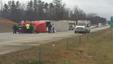 I-485 in north Charlotte shut down due to overturned tractor-trailer_6595104