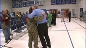 A sailor returning from a 6-month deployment surprised her daughter Thursday at Concordia Christian Dayschool in Conover.