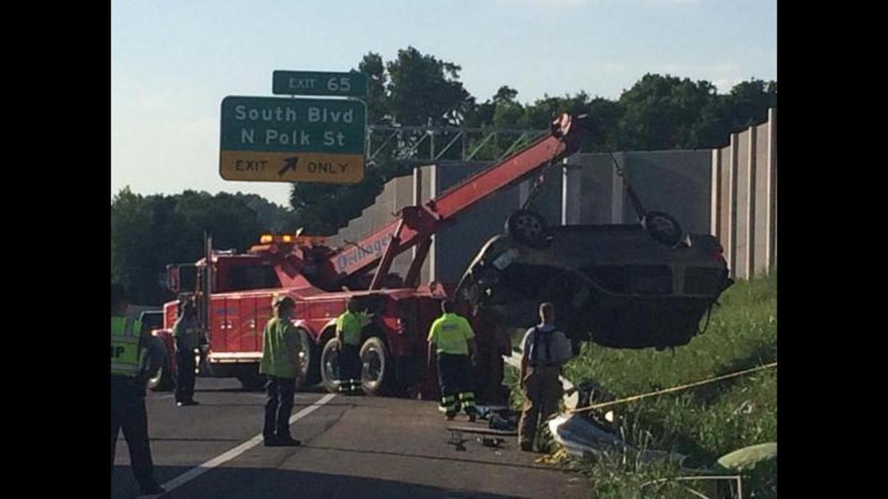 IMAGES: Fatal accident on I-485   WSOC-TV