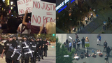 Protesters marching Friday night in uptown Charlotte_7980292