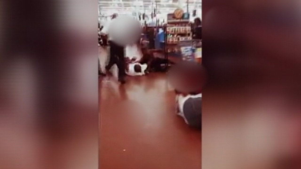 must see brawl at charlotte walmart caught on video wsoc tv