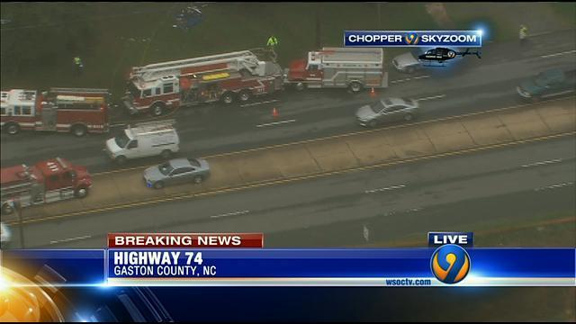 Police: Highway 74 blocked after deadly crash in Belmont