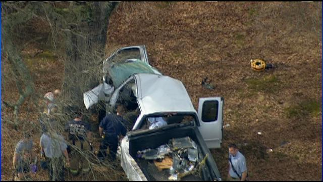 Officials: 1 airlifted after wreck near Mint Hill | WSOC-TV