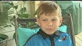 Boy, 7, with cancer gets ultimate wish to play football with Panthers