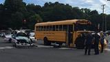 MEDIC: Van, school bus collide in west Charlotte