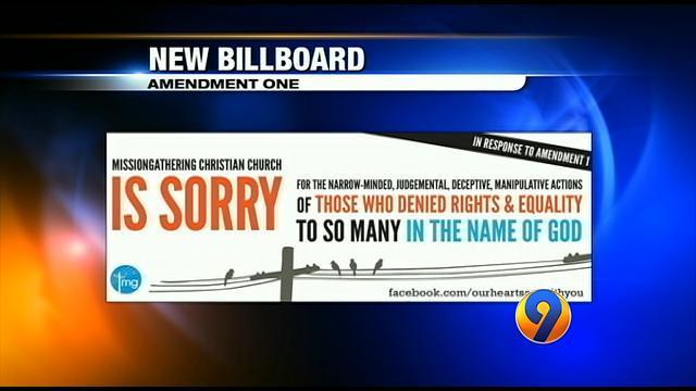 Calif. church plans billboard in Charlotte offering apology for ...
