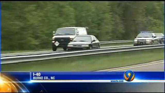 Channel 9 catches I-40 high-speed chase on camera