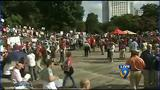 Moral Monday crowd growing in Marshall Park