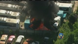 MUST SEE: Fire consumes buses at north Charlotte scrap yard