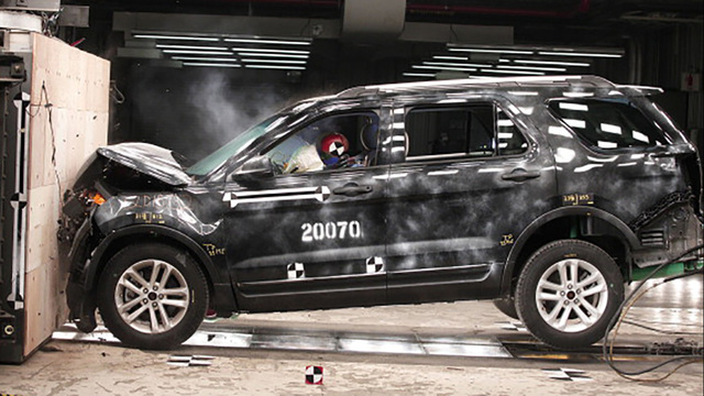 Crash tests raises questions about front-seat safety in some SUVs