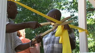 IMAGES: Ribbon-cutting ceremony as Vietnam vet receives new Charlotte home